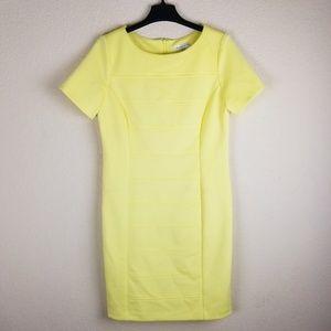 NWOT - Sandra Darren | Yellow Sheath Dress